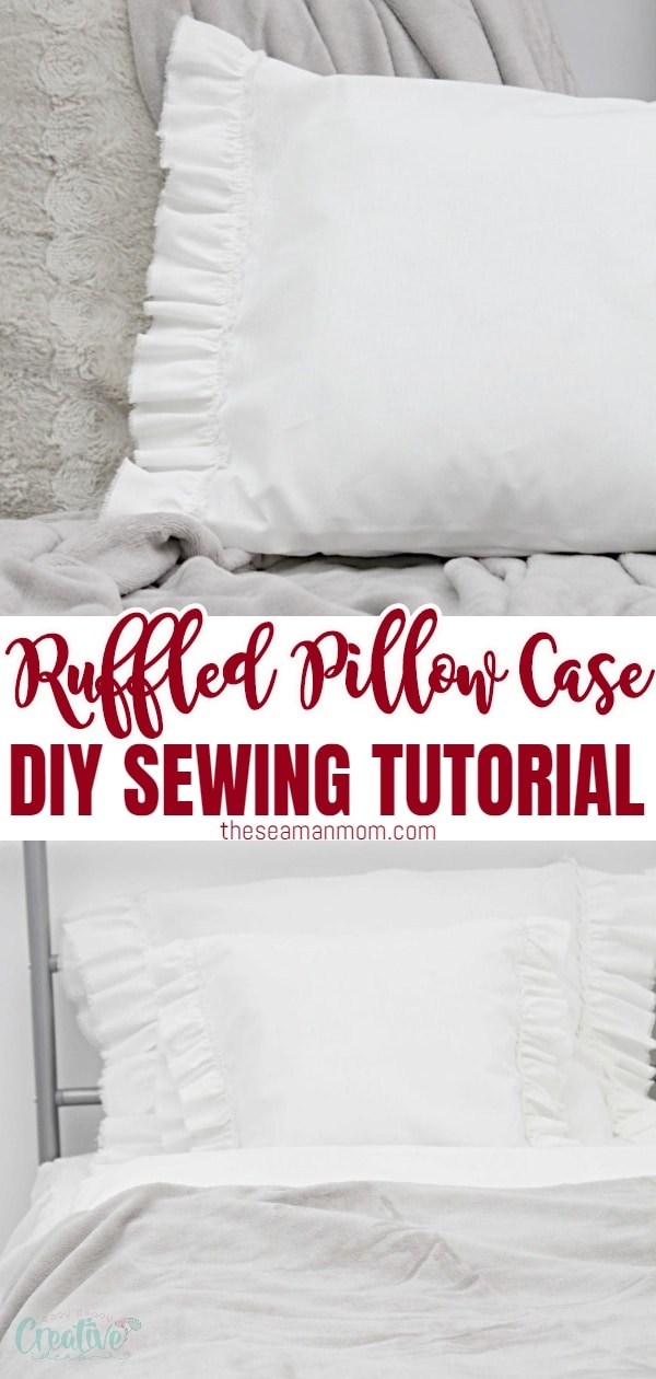 Love the look of thosefarmhouse style pillows? Making your ownruffled pillow case is so easy peasy, you'll want to make tons of these shabby chic pillows! Just remember: sharing is caring so don't keep them all for yourself! Your friends will be thrilled to display some of your gorgeous handmadefarmhouse pillow covers in their homes! via @petroneagu