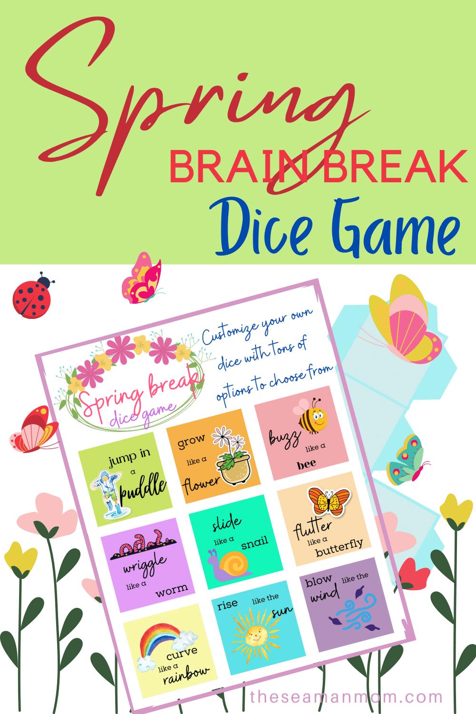 Brain break dice game