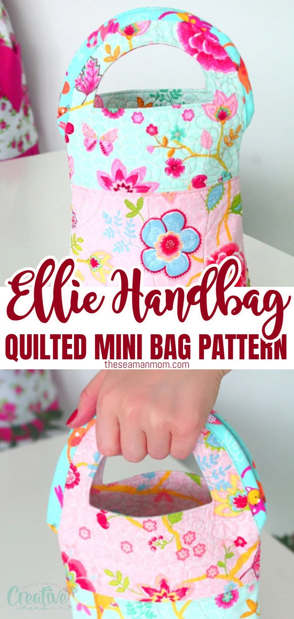 This quilted handbag is another quick and easy beginner project, especially if you plan on taking up quilting and didn't have the courage to do so yet. Great project for beginner quilters! via @petroneagu