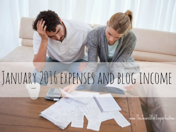 January 2016 Expenses And Blog Income