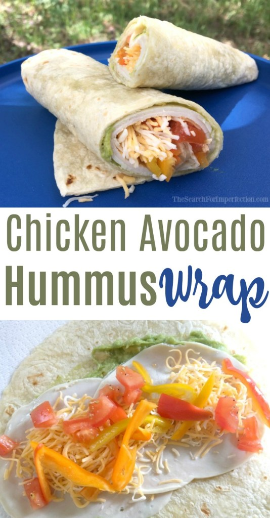 The combination of flavors in this avocado hummus chicken wrap are amazing!