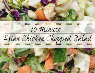 10 Minute Asian Chopped Chicken Salad