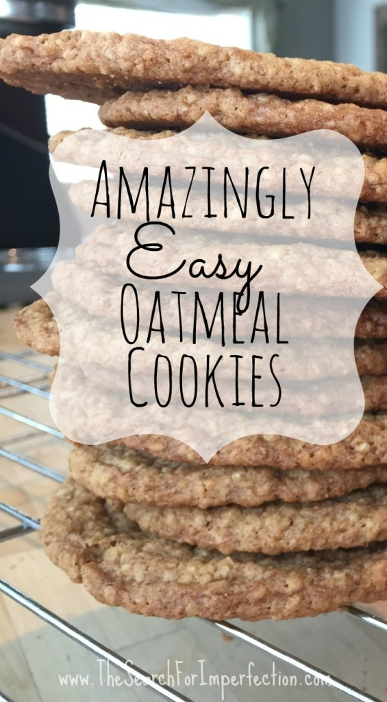 Amazingly Easy Scratch Oatmeal Cookies