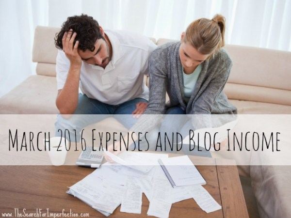 March2016 Expenses AndBlogIncome
