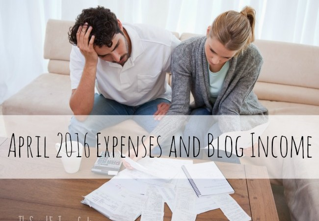 April 2016 Expenses and Blog Income