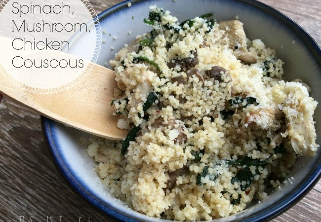 Spinach, Mushroom, Chicken Couscous