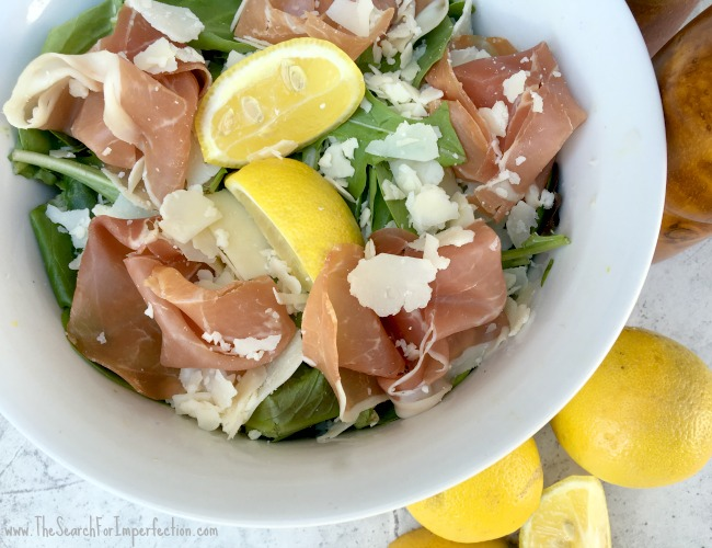 Prosciutto Parmesan Salad with a Squeeze of Lemon