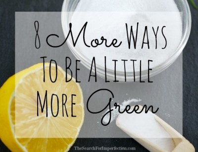 8 More Ways to be a Little More Green