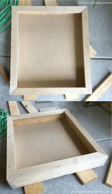 Jewelry Box Framed with the Backing On