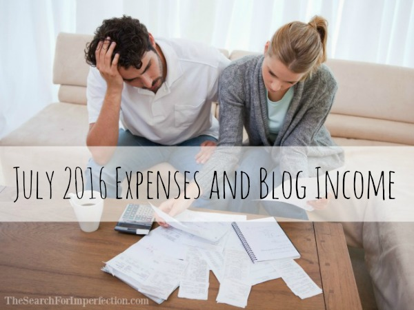 July 2016 Expenses and Blog Income