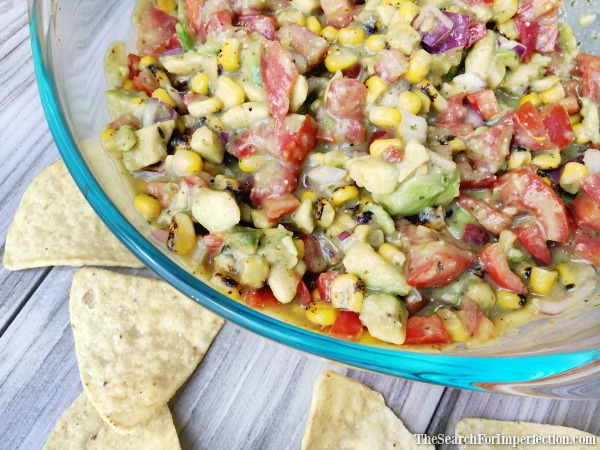 Delicious Roasted Corn and Avocado Salsa