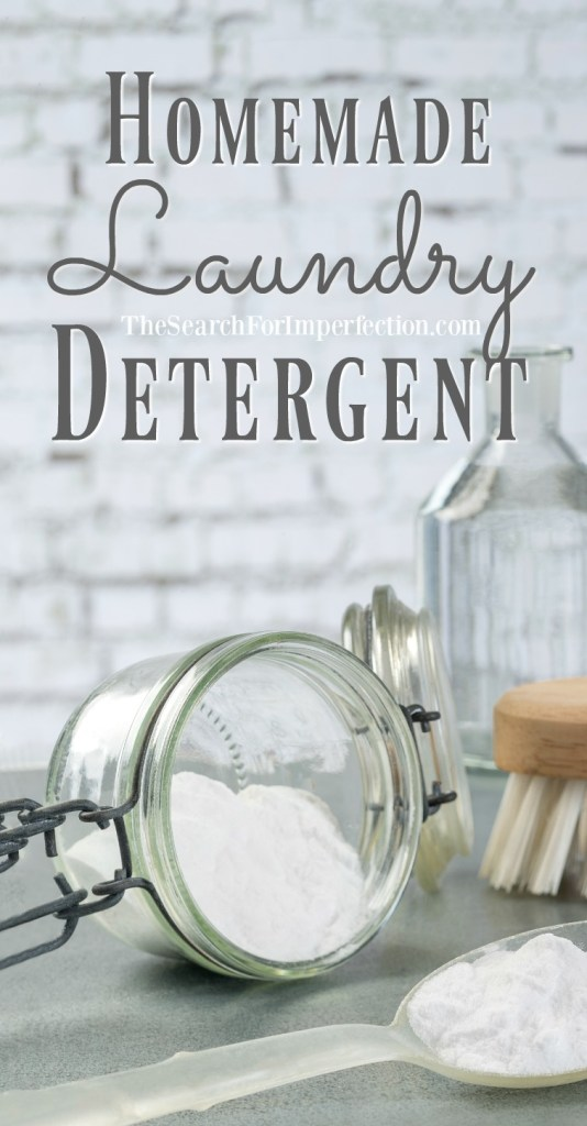 Try this easy homemade laundry detergent and get rid of the harsh chemicals!