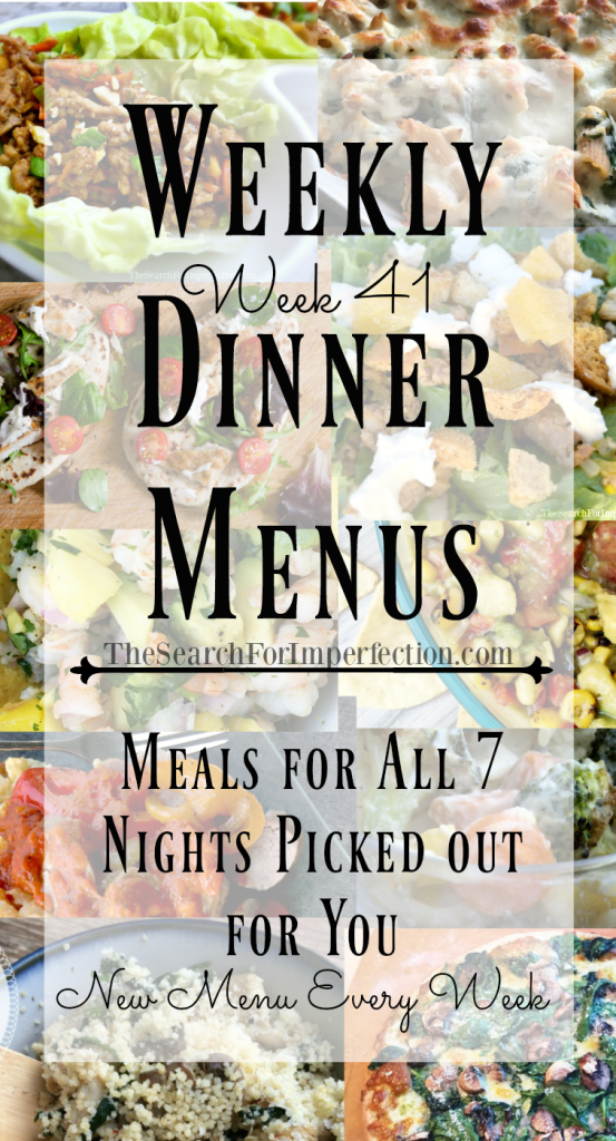 Every week, a new meal plan for all seven nights.
