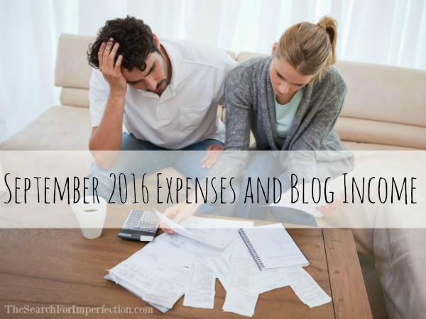 September 2016 Expenses and Blog Income