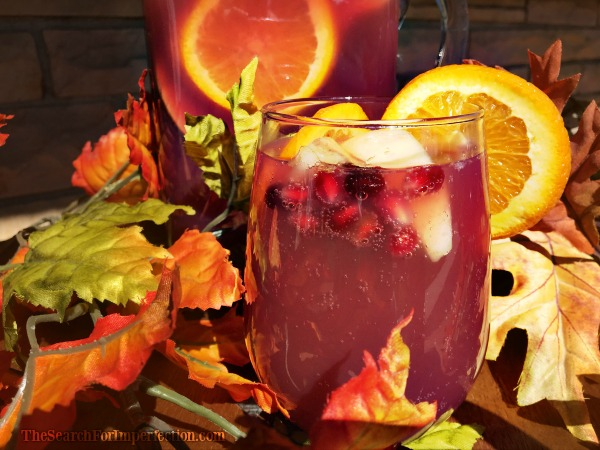 Beautiful Fall Apple Spice Sangria