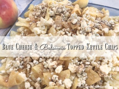 Blue Cheese and Balsamic Topped Kettle Chips