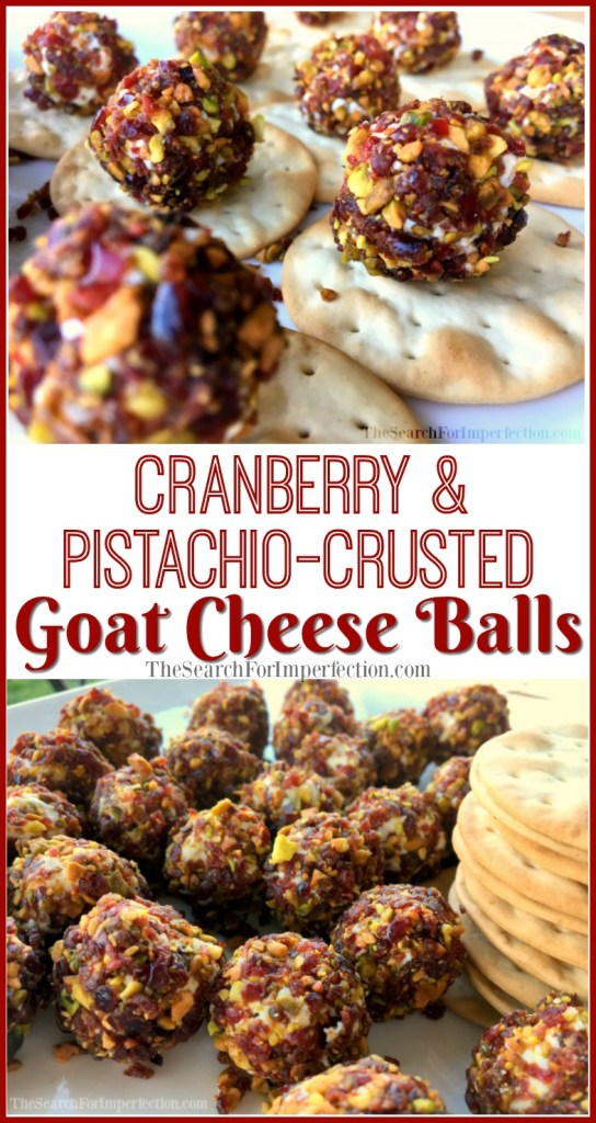 Cranberry and Pistachio-Crusted Goat Cheese Balls are Simple and Delicious.