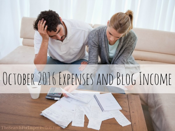 October 2016 Expenses and Blog Income