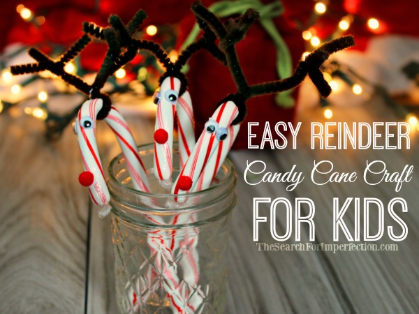 Easy Candy Cane Reindeer Craft for Kids