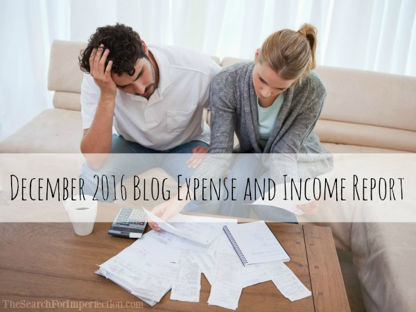 December 2016 Expenses and Blog Income Report
