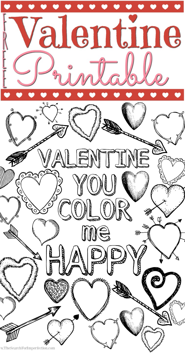 picture about Valentine Printable Coloring Pages identified as Young children Valentine Printable Coloring Web page - \