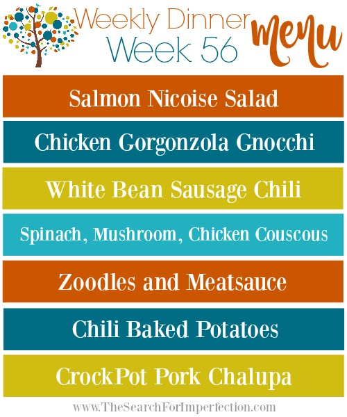 Weekly Dinner Plan, Week 56
