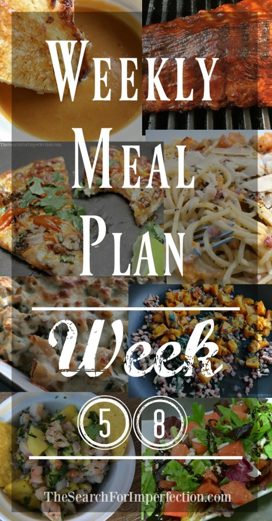 Week #58 of our weekly meal plans!