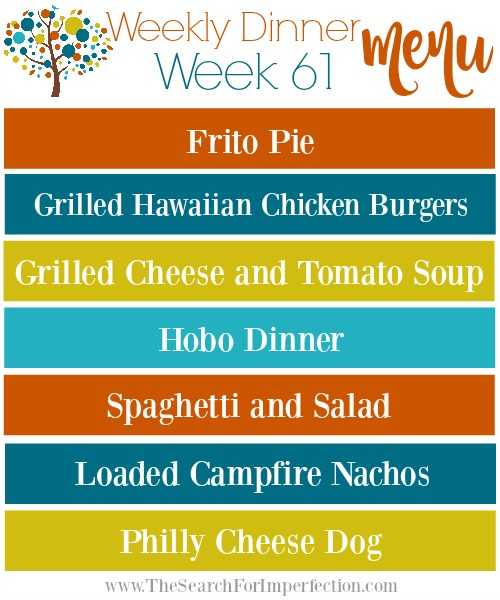 Weekly Meal Plan Week 61