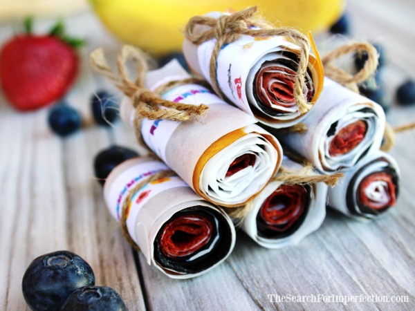 Berry Banana Homemade Fruit Roll Ups