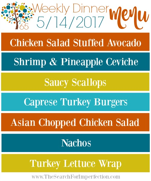 Weekly Meal Plan 5/14/17