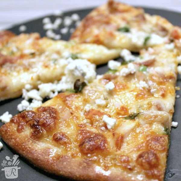 Easy Homemade Buffalo Chicken Pizza