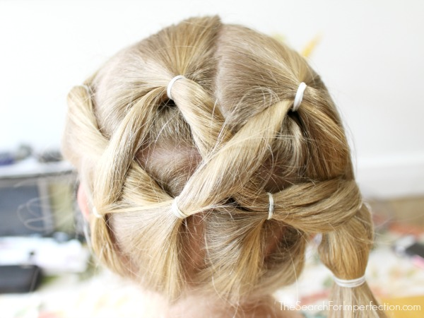 Easy Criss Cross Twist Girls Hairstyle