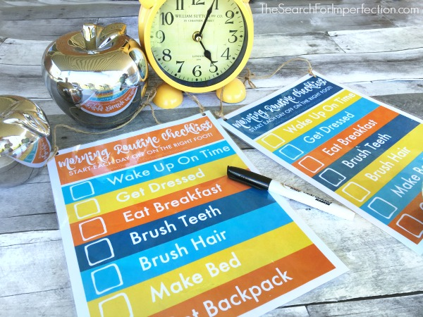 DIY Dry Erase Morning Routine Checklist for Kids – Plus Bonus Free Printable