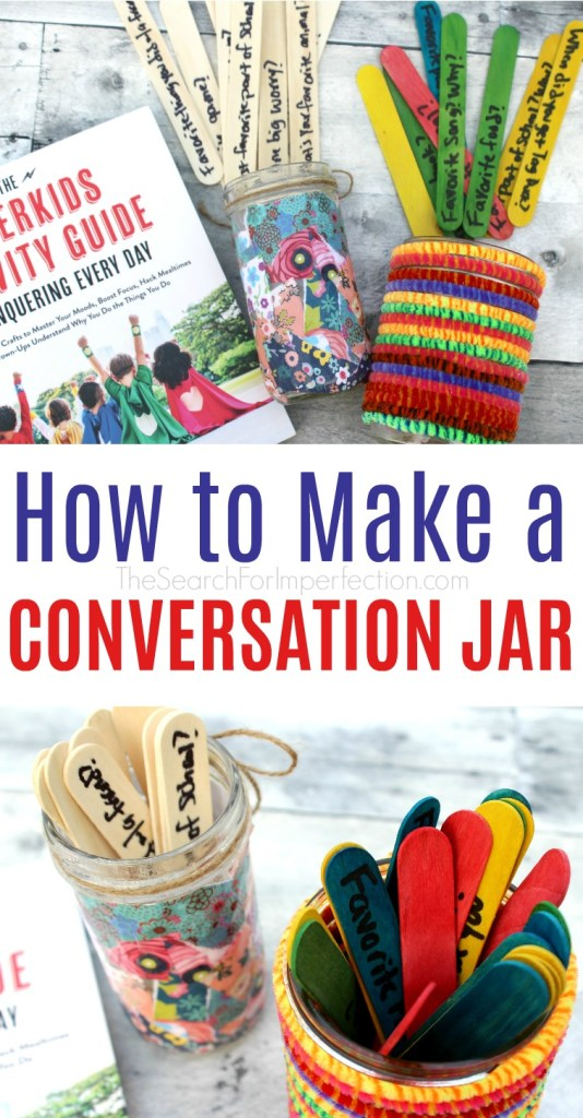 If you struggle with mealtime conversation, these conversation jars will solve that problem!