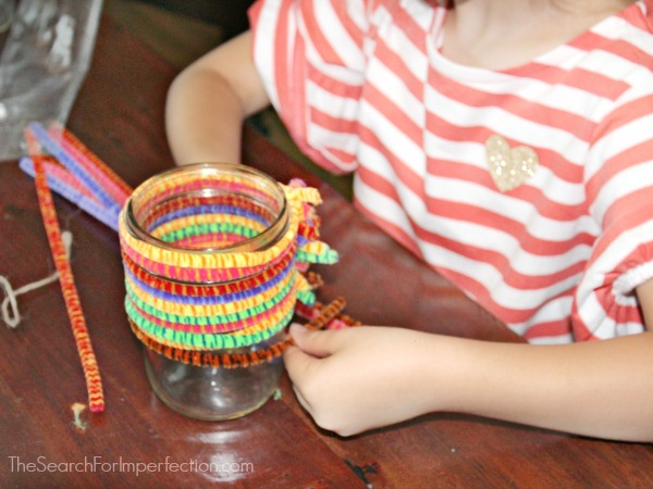 Pipe Cleaner Mason Jar