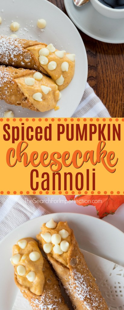 It's time for pumpkin everything! Try this yummy Spiced Pumpkin Cheesecake Cannoli