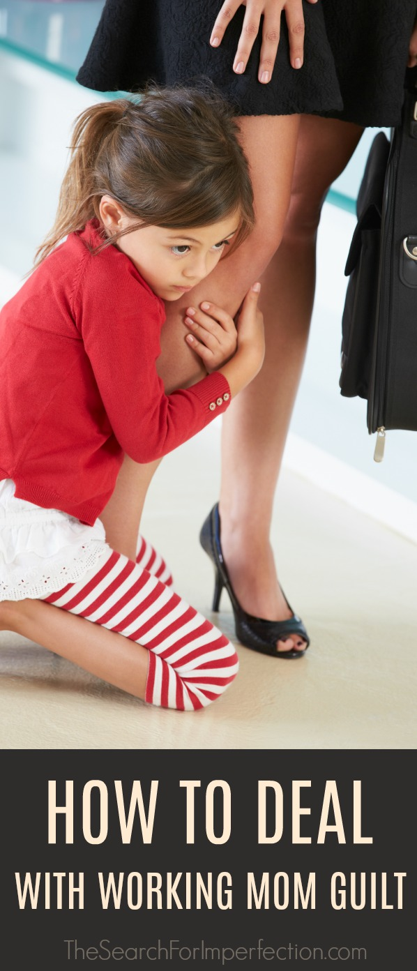 It's so tough being a working mom, love this advice! #workingmom #momguilt #workingmomguilt #parenting