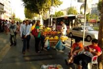 A typical street scene near the Aksaray tram stop.