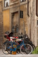 Bicycles in the Oltrarno.
