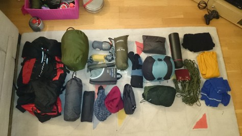 What I packed, might go through this in more detail in another post