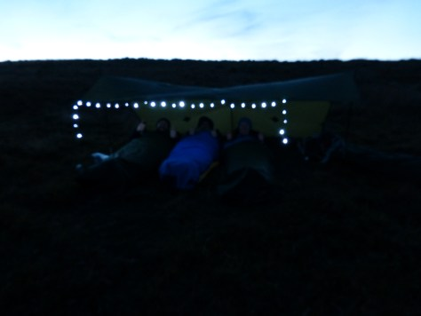 Don't have to be subtle when wild camping on Dartmoor