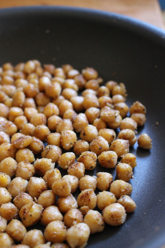 Carrot Salad with Coriander Spiced Crispy Chickpeas