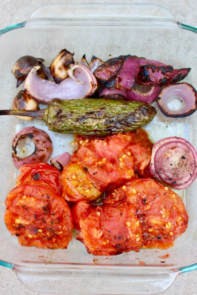 Roasted Salsa (Using the Grill)