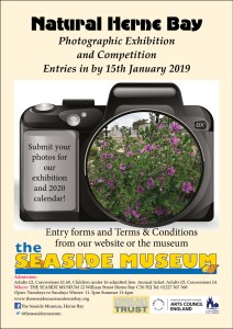 Poster for our 2019 photo competition Natural Herne Bay - forms available from our website