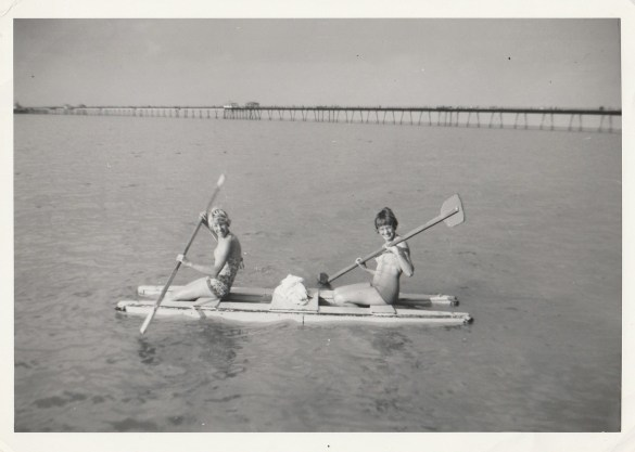 Canoeing by Herne Bay Pier 1959