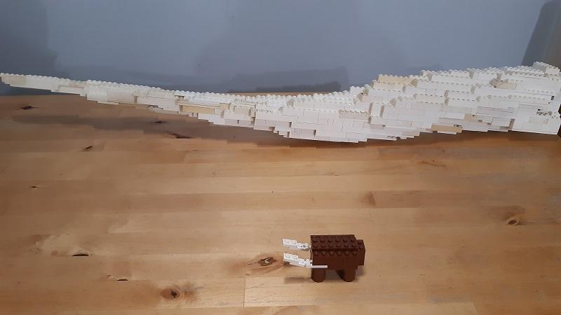 Lego Tusk and Lego Straight Tusked Elephant