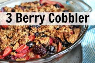 3 Berry Cobbler