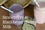 Strawberry & Blackberry Hemp Milk