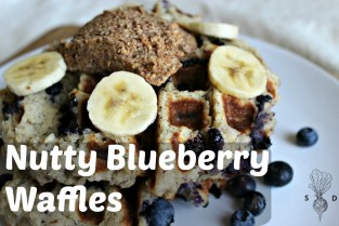 Nutty Blueberry Waffles.