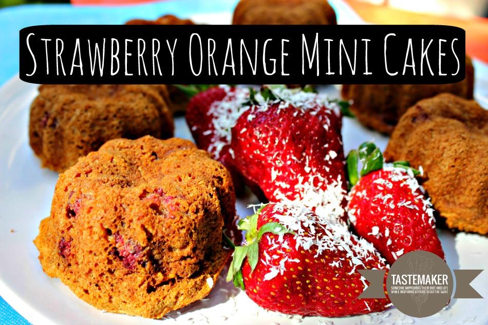 Strawberry Orange Mini Cakes
